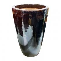 Vaso Vietnamita Redondo Marrom 430110