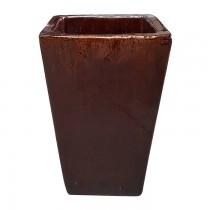 Vaso 430140 marrom M 28x28cm h48cm
